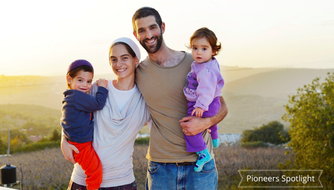 "A childhood dream comes true. Relocating to a new city is a big decision, even when it's within your own country. Meet the Katz family - they were living in a community bordering with Shomron, and were looking to move to a new community in the Galilee, a childhood dream of both Dan and Hadar. They wanted an open minded community to fit their beliefs, and values. They contacted our Information Center, which recommended Shtula. It was love at first sight. The couple felt right at home, and moved to Shtula without a job, or even knowing what they would be doing for a living. ""The people in Shtula opened their homes, and hearts to us. The view is amazing, and the air is so fresh. We immediately felt like part of the community. We may have moved far from our families, but we gained new brothers, sisters, and grandparents."" Help the Katz children, and the rest of the children in Shtula, have a safe and happy place to play: www.give2gether.com/projects/shtula-children/"